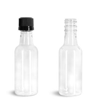 Glass and plastic bottles for alcohol