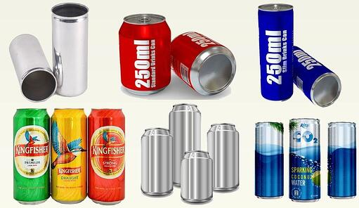 Printed and Plain Cans