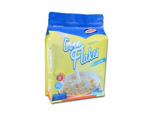 Flexible box bag for cereal packaging