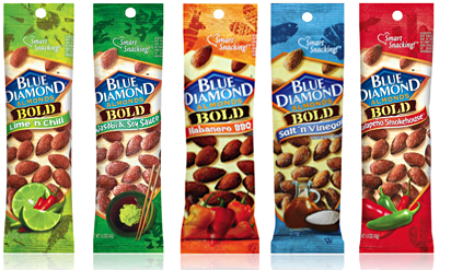 Blue Diamond Pouch Packaging