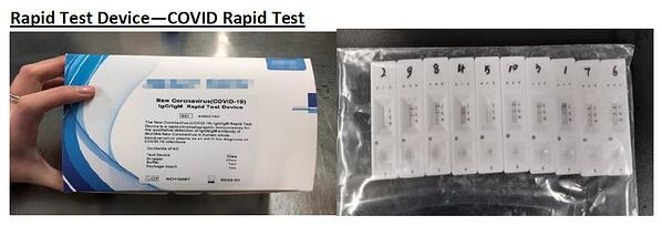 Covid rapid test kits and global sourcing