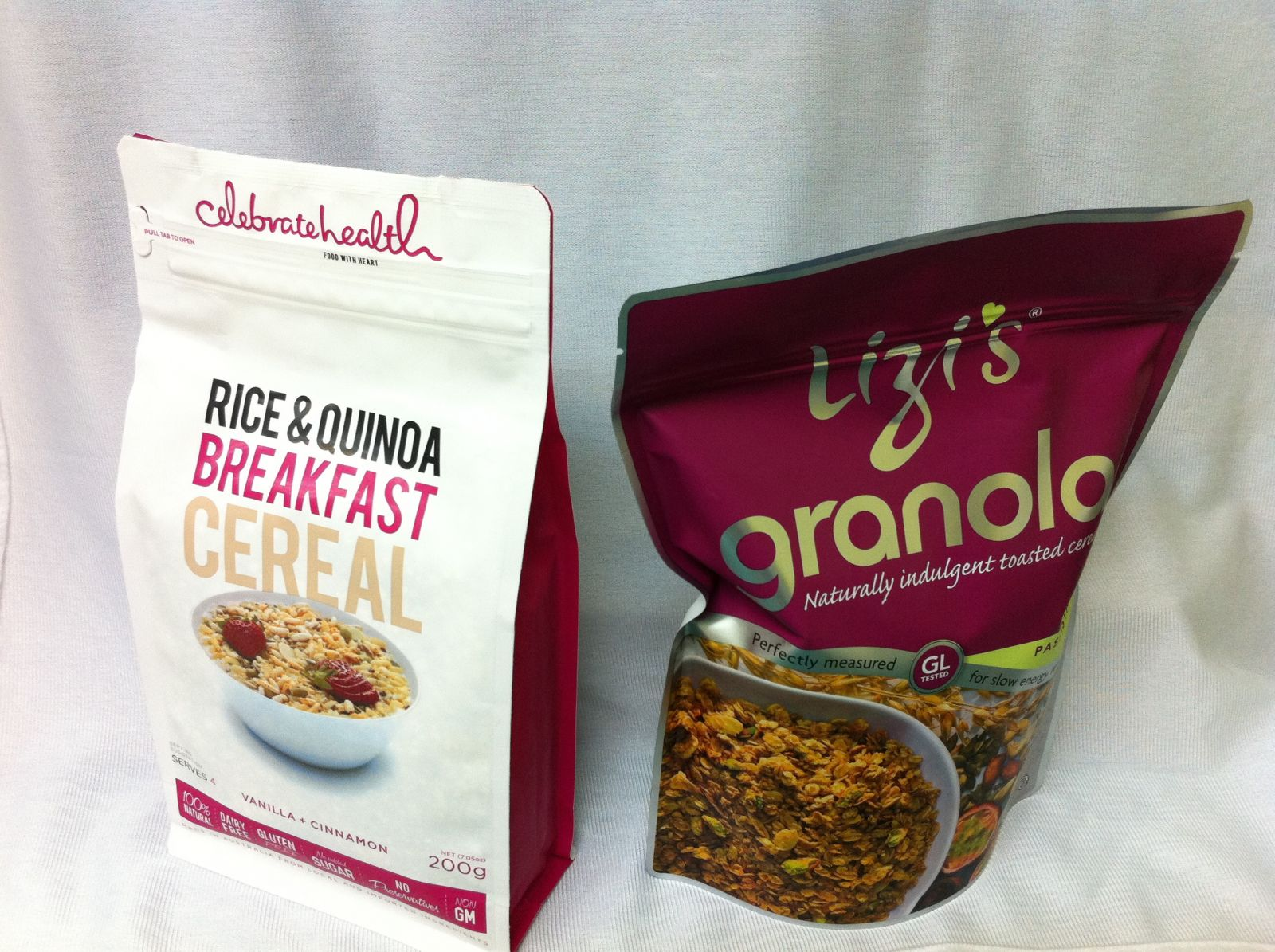 Cereal in Flexible Box Bag