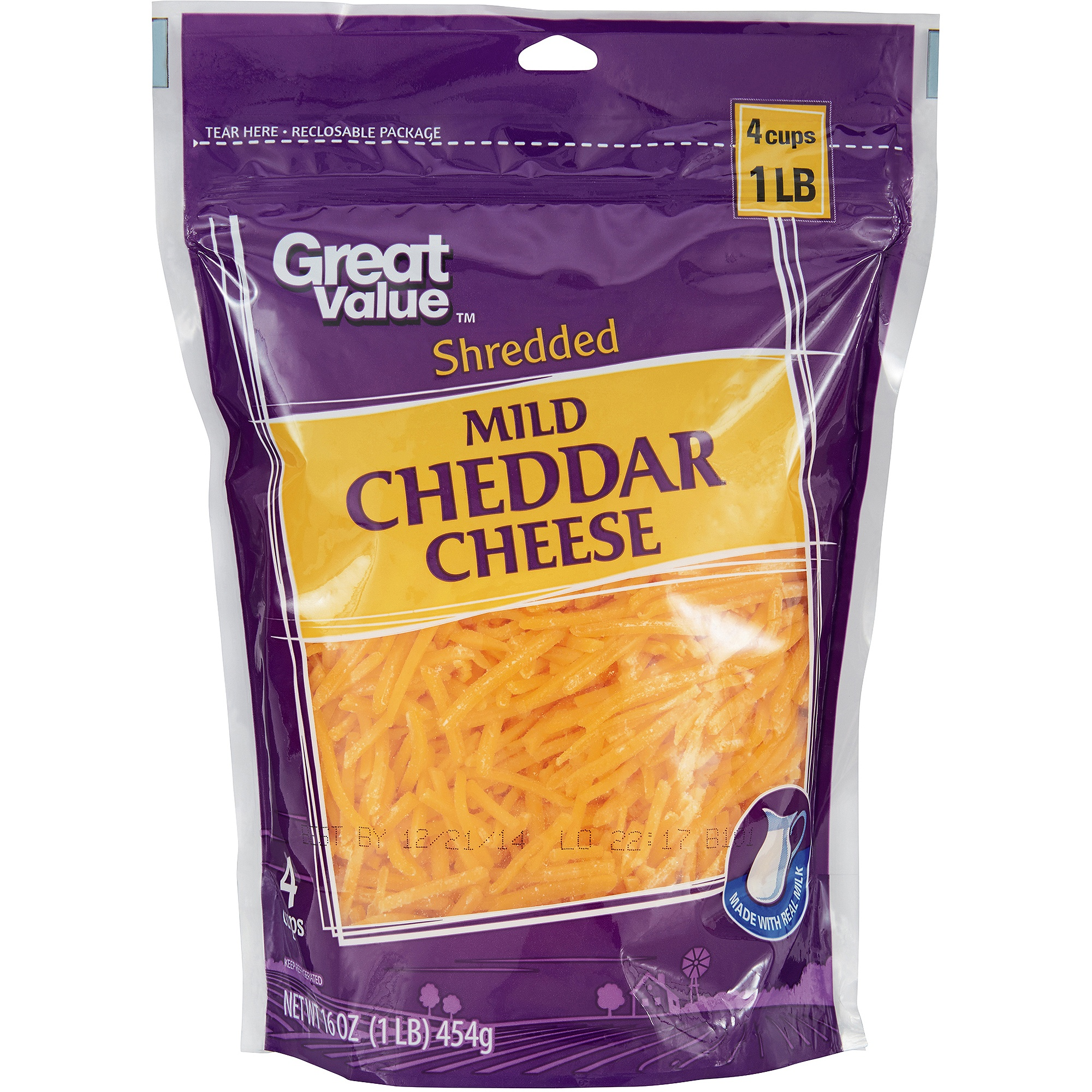 Cheese in Stand Up Pouch
