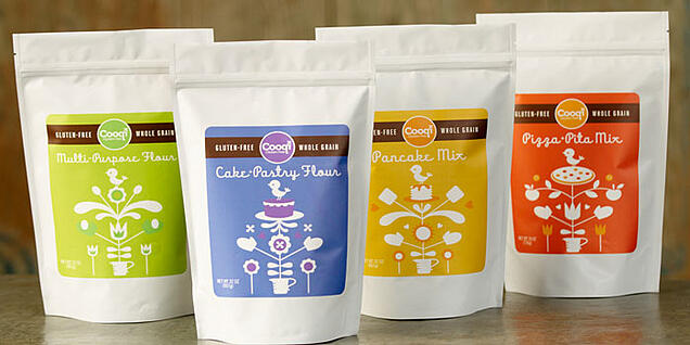 Gluten Free Flour in Stand Up Pouches
