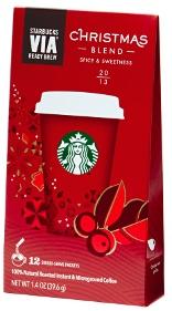 Starbucks Via Christmas Pouch