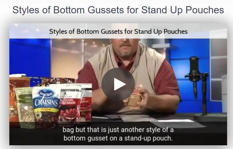Styles of Bottom Gussets Screenshot