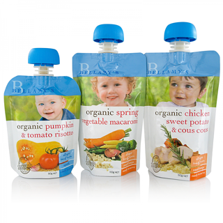 Baby Food in Spouted Pouches