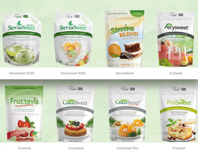 Steviva Dry Food Packaging in Custom Printed Pouches