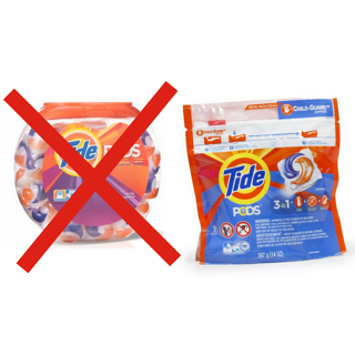 Tide Switch to Child Resistant Packaging