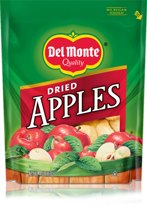 Packaging dried apple in stand up pouch