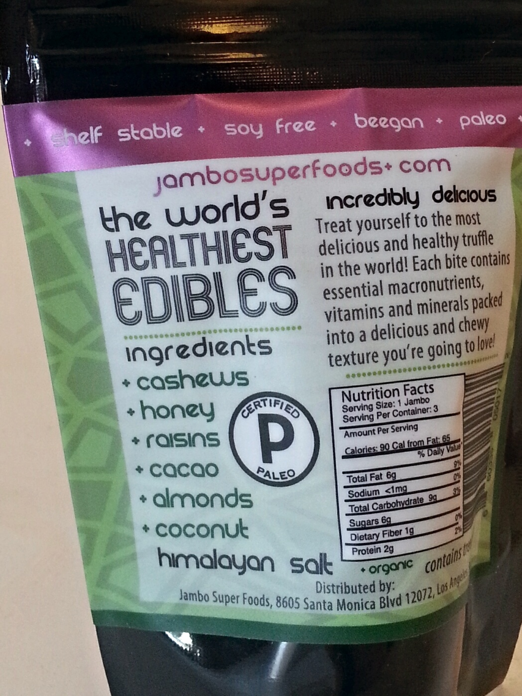 Healthy Edibles in Stand Up Pouch
