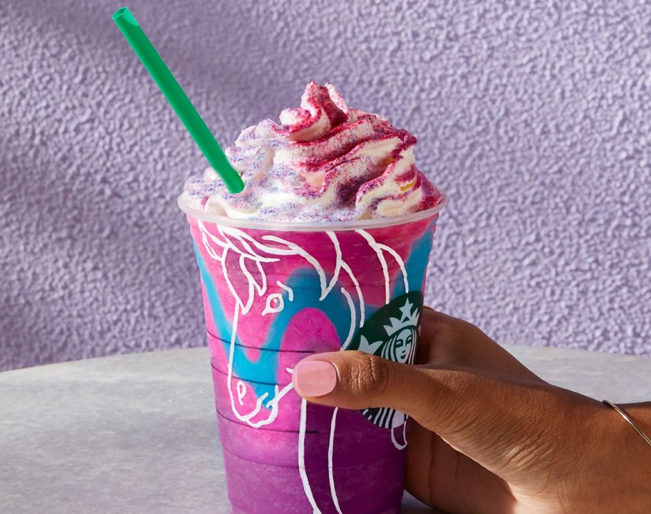 Starbucks Unicorn Frappuccino Coffee Packaging