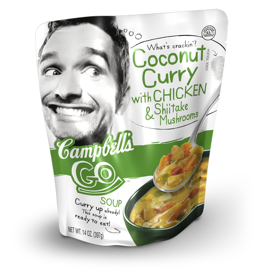 campbells soup packaging in stand up pouch