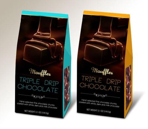 Chocolate in Flexible Box Bags