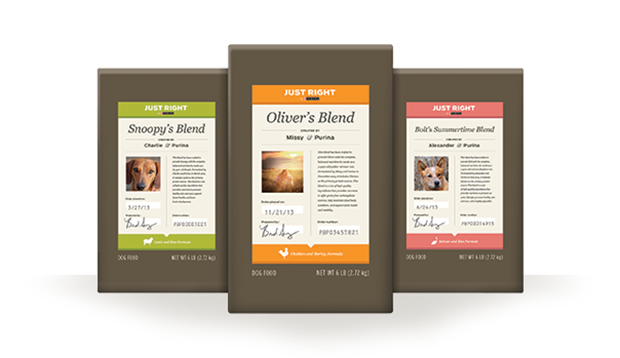 Purina Just Right Dog Food Packaging