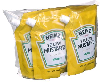 Kraft Heinz Spouted Pouches for Mustard