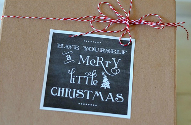 Christmas Packaging Label